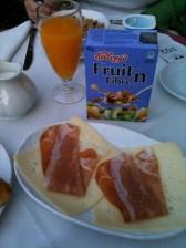 Monte Victoria breakfast