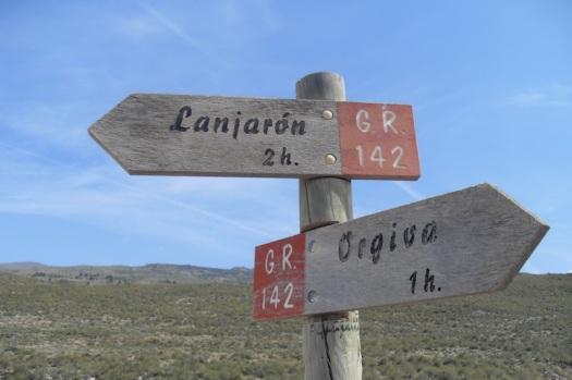 Órgiva-Lanjarón signpost