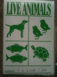 Pet travel stickers