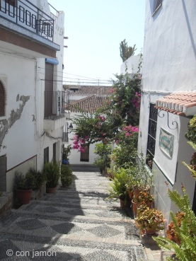 Steep street in Salobreña