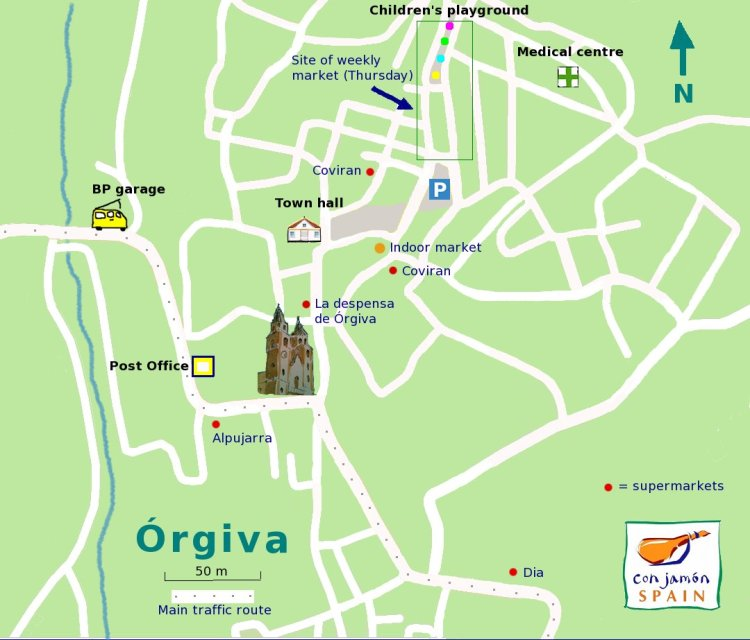 Supermarkets in Orgiva