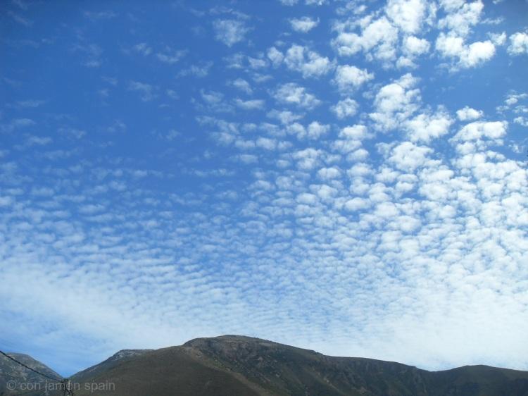 Sierra de Lújar sky
