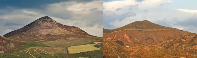 Mountain in Spain and the Sugarloaf in Ireland