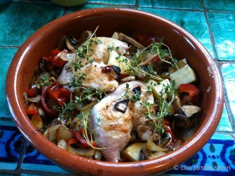 Chicken cassolet