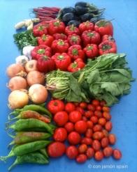 Orgiva market vegetables