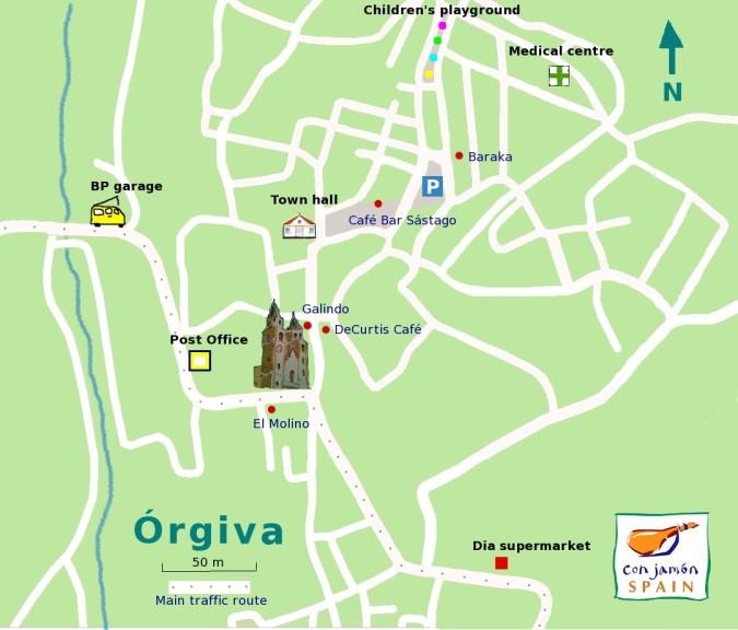Orgiva coffee map