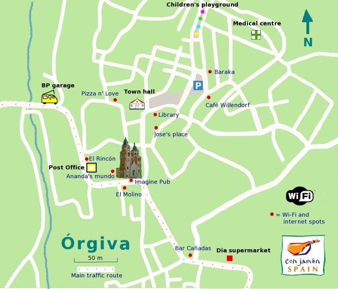 Orgiva Wi-Fi map