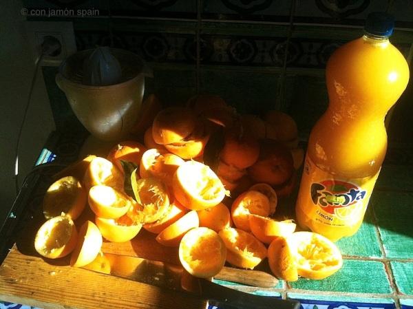 Squeezed oranges