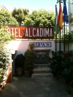 Entrance to hotel Alcadima