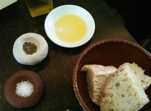 Bread, olive oil at Moro