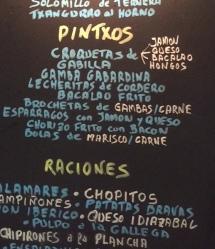 Pintxos board in San Sebastian