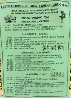 Filomena events