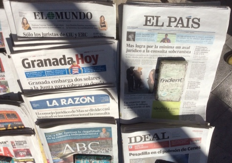 Array of Spanish newspapers