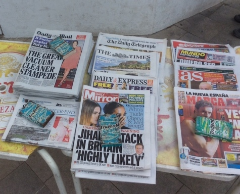Array of UK papers in Spain