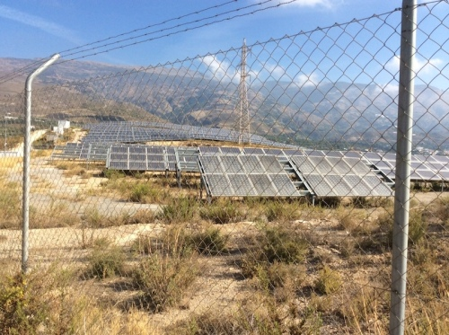 Solar plant outside Orgiva