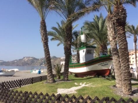 boat at almunecar
