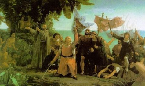 First Landing of Columbus on the Shores of the New World painting