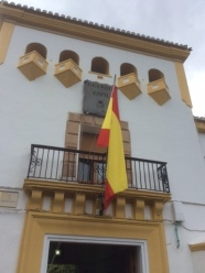 Guardia Civil flag in Orgiva