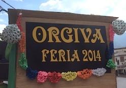 Orgiva feria 2014 sign