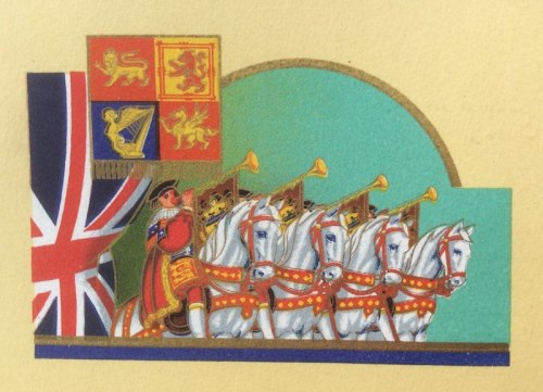 Detail from Queen Mary menu cover