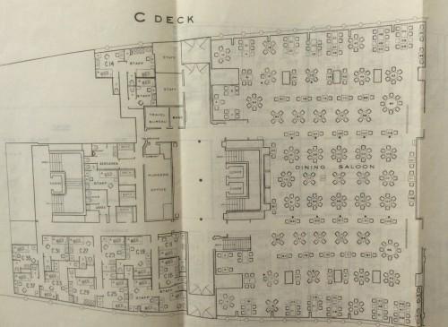 Plan of ship – C deck