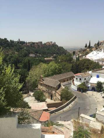 Looking towards the Alhambra from Sacromonte